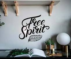 Free Spirit Feather Hippie Life Vinyl Wall Decal Decor Sticker Ebay