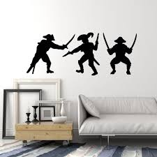 Vinyl Wall Decal Pirates Fight Bandit Nautical Style Kids Room Sticker Wallstickers4you