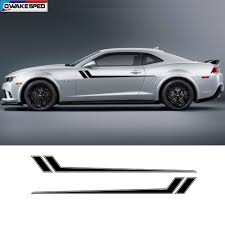 Racing Sport Stripes Car Waist Lines Sticker Auto Body Door Side Decor Vinyl Decals For Chevrolet Camaro Rs Ls Ss Lt 2010 2018 Car Stickers Aliexpress