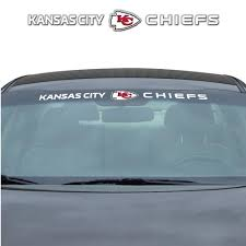 Team Promark Kansas City Chiefs Windshield Decal In The Exterior Car Accessories Department At Lowes Com