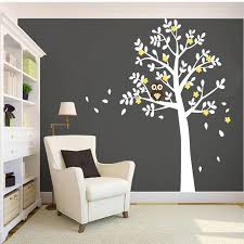 Huge White Tree Owl Wall Stickers Xlarge Size Decor Vinyl Decal Removable Nursery Kids Baby Room Decorative Stickers 130x180cm Owl Wall Sticker Wall Stickerroom Decor Stickers Aliexpress