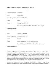 Surat Perjanjian Over Alih Kredit Rumah Pa Angga Surat Tanggal Rumah