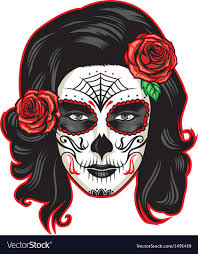 the dead with sugar skull makeup