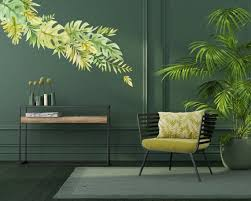 Tropical Jungle Leaves Wall Decals Made From Fabric Peel And Etsy