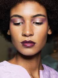 how to wear purple makeup porter