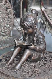175 best reading statues images book