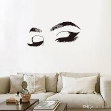 Pretty Eyelashes Wall Sticker Big Eyes For Girl Room Living Room Decorations Home Wallpaper Bedroom Art Decals Sexy Stickers Fairy Wall Stickers Fish Wall Decals From Lotlot 2 44 Dhgate Com