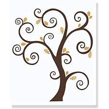 Brown Tree Wall Decal With Rust Leaves Wall Stickers Art Walmart Com Walmart Com