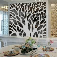 new 3d large tree mirror wall stickers