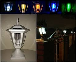 4 Pk Bronze Solar Fence Post 10 Lmns Led Frosted Wall Accent Light Set For Sale Online Ebay