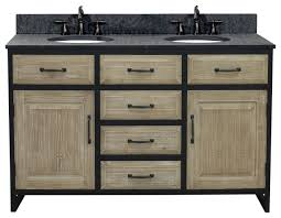 double sink vanity with matted textured