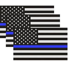 Reflective Us Flag Decal Packs With Thin Blue Line For Cars Trucks 5 X 3 Inch American Usa Flag Decal Sticker Honoring Police Law Enforcement 3m Vinyl Window Bumper Tape 3 Pack Wish