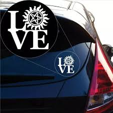 Vova Love Supernatural Decal Sticker For Car Window Laptop And More 976 4 X 5 6 White