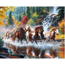 pvc running horse digital wallpaper rs