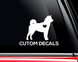 Shiba Inu Decals Make A Decal Online W Decal Designer Custom Car Window Dog Decals Personalized