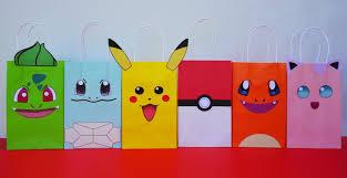 Instant Download Pokemon Favor Bags Pokemon Favors Pokemon