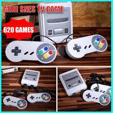 Máy Chơi Game Mini Snes Nes Retro Tv 8 Bit Tích Hợp 620 Trò Chơi Và Phụ  Kiện