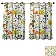 Woodland Animal Curtains Animals Bedroom Thermal Blackout Rest Trees Birds Owls Ani Toqueglamour
