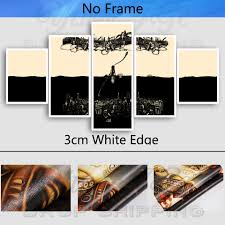 Modern Cuadros Wall Art 5 Pieces Canvas Painting Bioshock Infinite Rapture Beacon Hd Print Game Poster Pictures With Free Shipping Worldwide Weposters Com