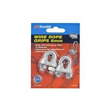 Zenith 6mm Galvanised Wire Rope Grip 2 Pack Bunnings Warehouse