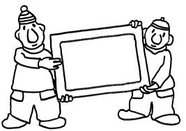 Buurman En Buurman Met Schilderij Kleurplaat Kleurplaatje Nl