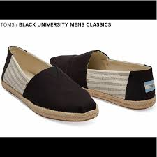 toms shoes black university mens