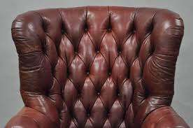 lillian august brown tufted leather