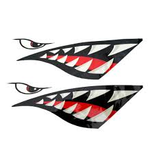 Car Truck Graphics Decals Auto Parts And Vehicles 2 Pieces Shark Teeth Mouth Vinyl Decal Stickers For Kayak Canoe Dinghy Boat Megeriancarpet Am