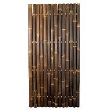 Java Black Bamboo Whole Pole Fence Panel 2m X 1m Uk Bamboo Supplies Ltd