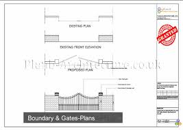 Planning Drawings For Fence Boundary Gate