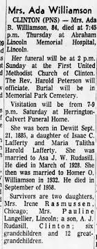 Mrs. Ada Williamson, Obituary - Newspapers.com