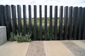 Black Timber Fence Burnside Heights Design By Ffla Backyard Fences Fence Design Backyard Fence Decor