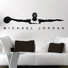Michael Jordan Air Jordan Wall Decal Free Shipping Basketball Themed Bedroom Kid Room Decor Boys Bedroom Themes