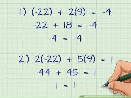 solve simultaneous equations using