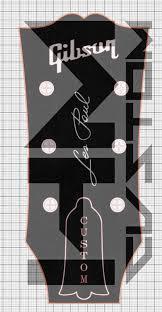 Gibson Guitar Logo Sticker Les Paul Lettering Vinyl Logo Hmcustom Online Shop