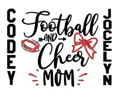 Football Mom Cheer Mom Car Decal Laptop Decal Personalized Etsy