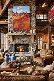 stone fireplace open expansive great