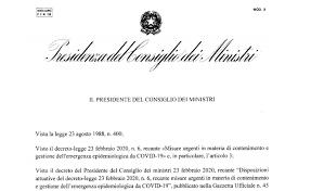 Decreto Coronavirus chiusura scuola in pdf scaricabile o stampabile