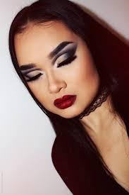 morticia addams halloween makeup look