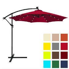 10ft aluminum half patio umbrella