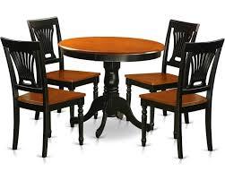 East West Furniture Antique 5 Piece Kitchen Table Set Small Kitchen Table And 4 Kitchen Dining Chairs Anpl5 Blk W Goedekers Com