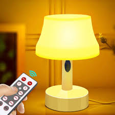 Amazon Com Zeefo Led Night Light Portable Simple Design Nursery Lamps Remote Control Battery Powered Dimmable Table Lamp With Timer Function For Bedroom Living Room Kids Room Remote Control Led Night Light Home