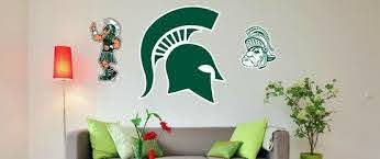 Msu Logo Wall Decals Sparty Spartan Helmet Go Green Block S Spartan Statue And More Nudge Printing