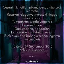 sesaat nikmatilah pilumu quotes writings by yohana