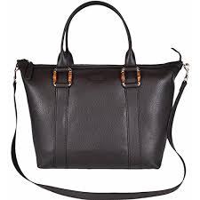 gucci dark brown leather handbag w