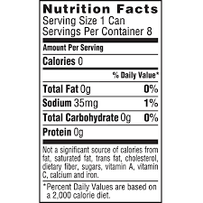 dasani sparkling water nutrition facts