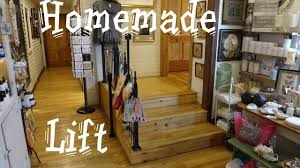 awesome homemade wheelchair lift