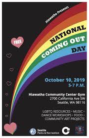 THURSDAY: Coming Out Day Celebration @ Hiawatha Community Center