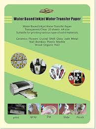 Printer Paper Inkjet Waterslide Decal Paper White 8 5 X 11 40 Sheet Computers Tablets Networking Vibranthns Lk