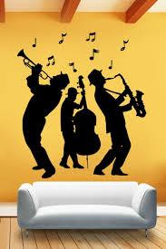 Jazz Musicians 3 Piece Band Wall Mural Decal 32 Colors 6 Sizes Walltat Com